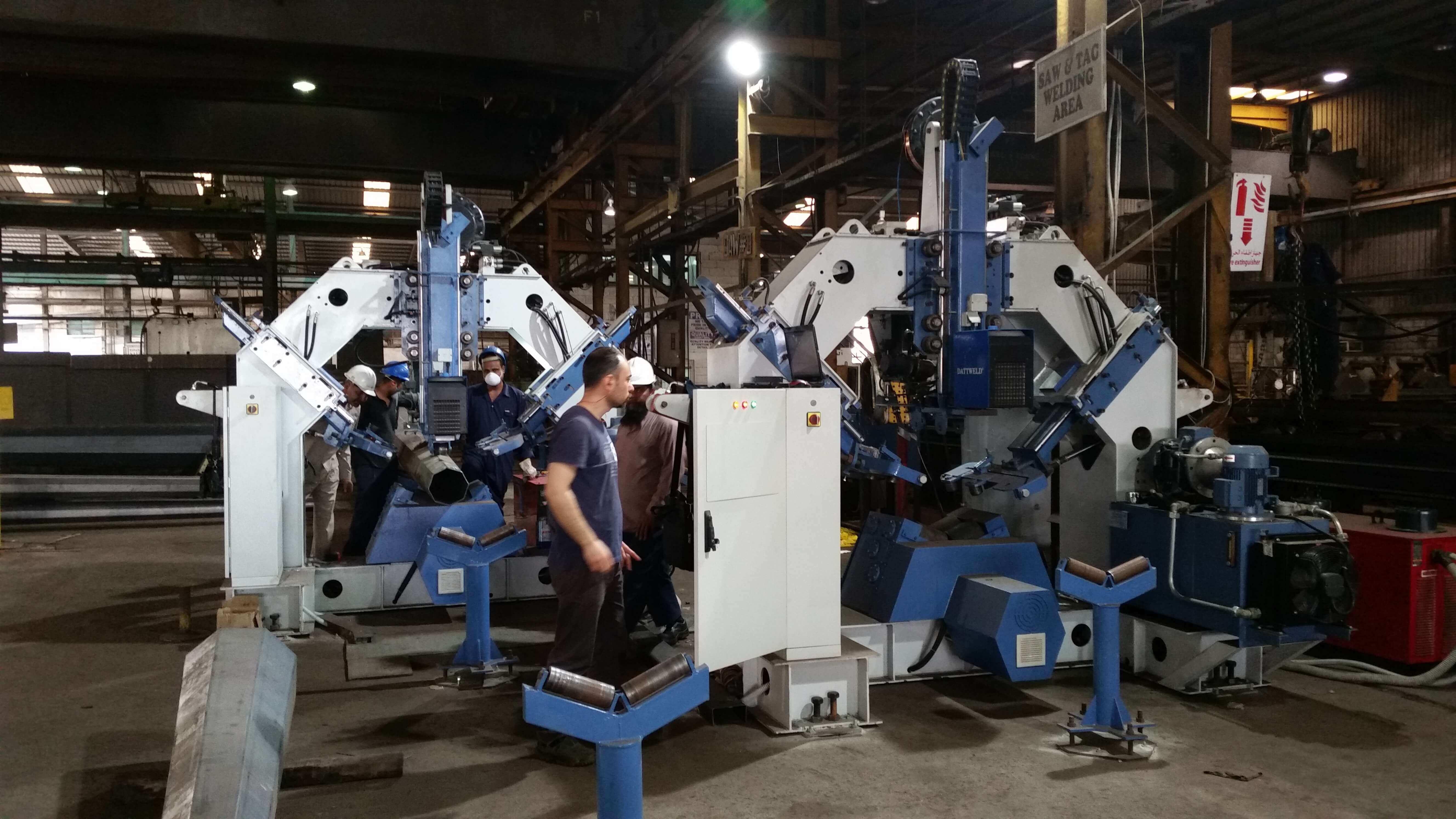 HIDADA SAUDI ARABIA POLYGON POLE WELDING MACHINE